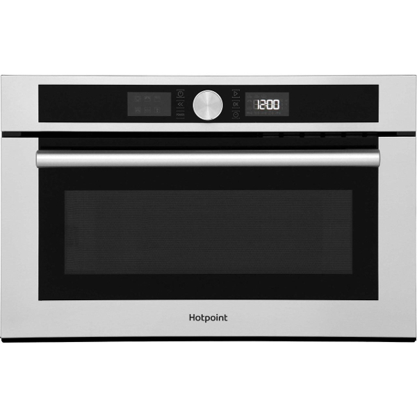Hotpoint MD454IXH Built In Microwave With Grill in Stainless Steel